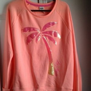 Pink by VS bling sweatshirt
